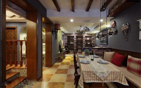 餐厅地砖美式风格装饰设计图片