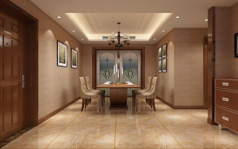 餐厅照片墙美式风格装修设计图片