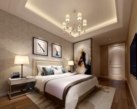 卧室床头柜简约风格装饰效果图