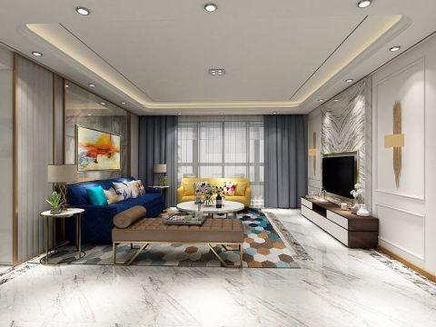 现代简约风格90平米套房新房装修效果图