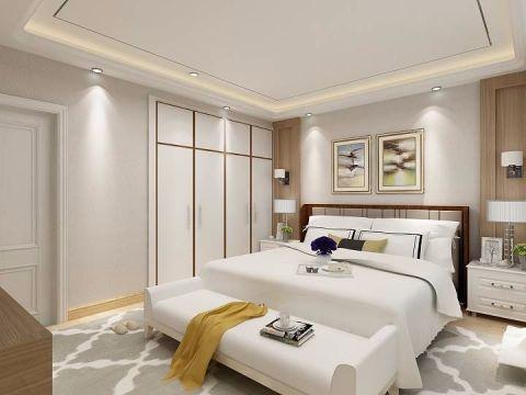 卧室床头柜现代简约风格装修效果图