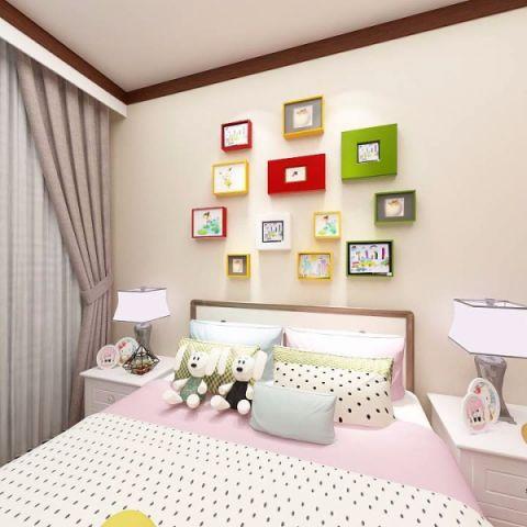 儿童房照片墙新中式风格装饰图片