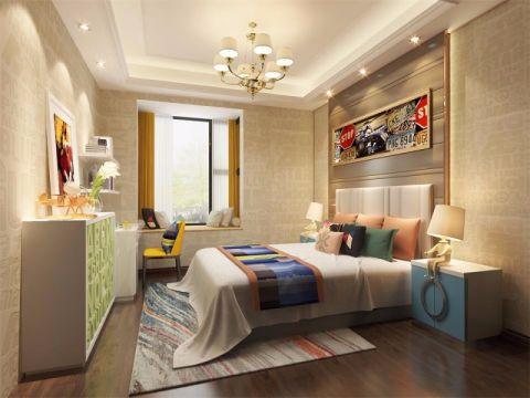 卧室飘窗新古典风格装饰设计图片