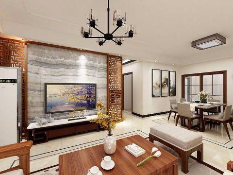 新中式风格102平米套房新房装修效果图
