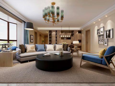 简约风格100平米公寓新房装修效果图