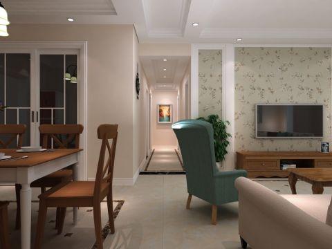 简约风格120平米公寓新房装修效果图