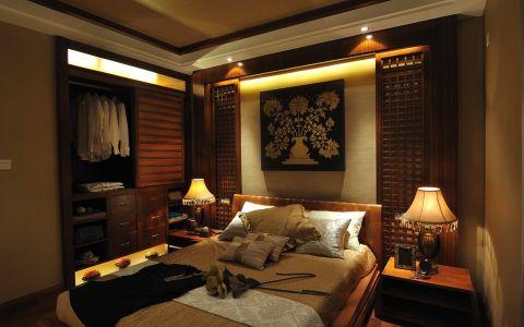 卧室床东南亚风格装饰效果图