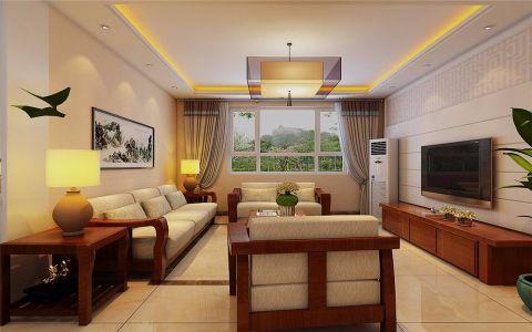 客厅电视柜新中式风格装饰效果图