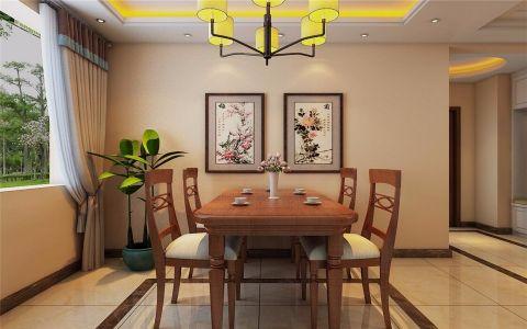餐厅餐桌新中式风格装潢效果图