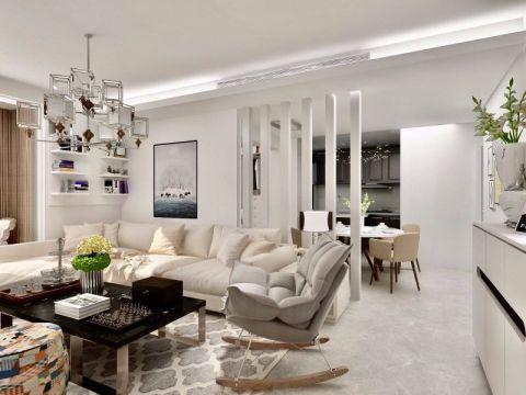 现代简约风格88平米套房室内装修效果图