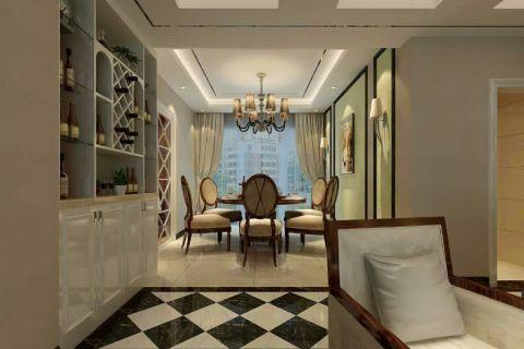 餐厅窗帘简欧风格装潢设计图片