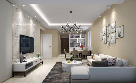 现代简约风格90平米套房室内装修效果图