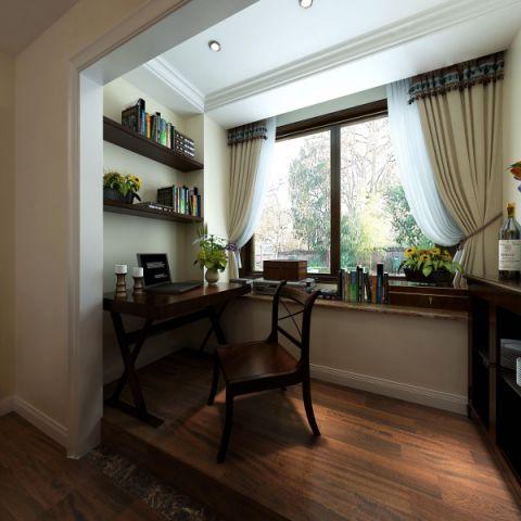阳台书桌美式风格装潢设计图片