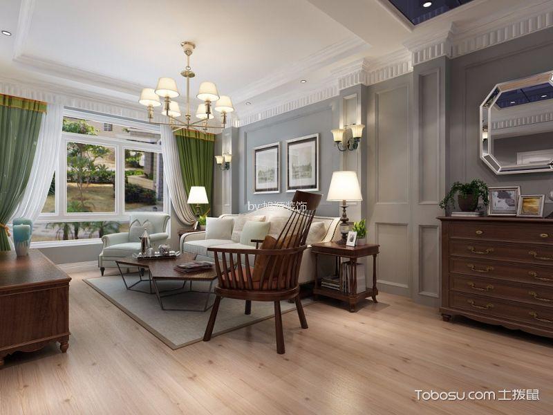 景瑞御华府110平美式风格三居室装修效果图