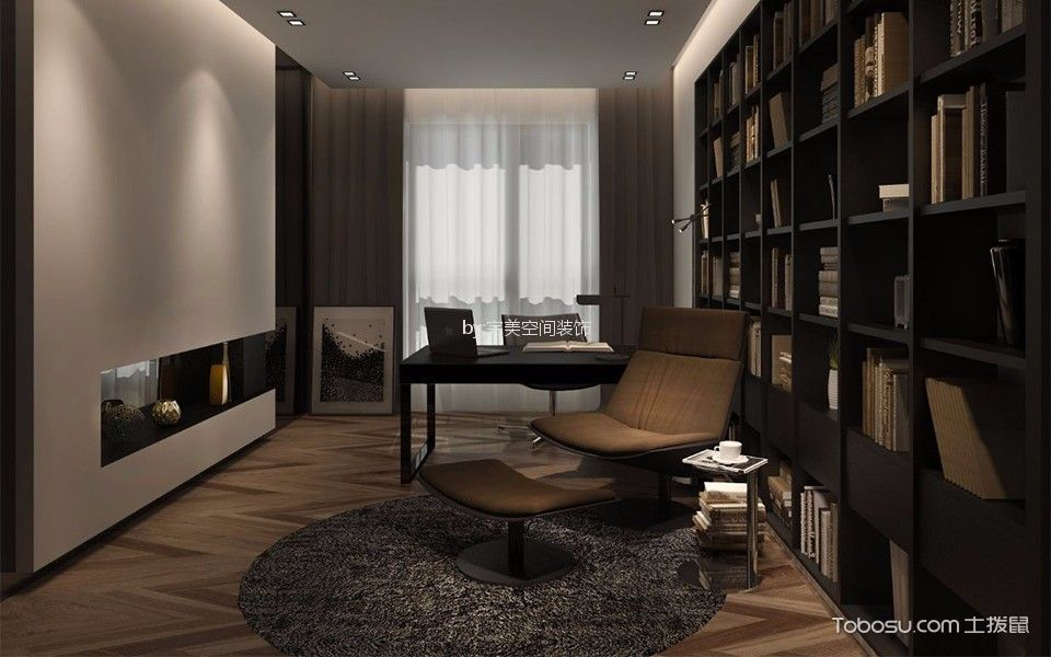现代简约风格340平米别墅新房装修效果图