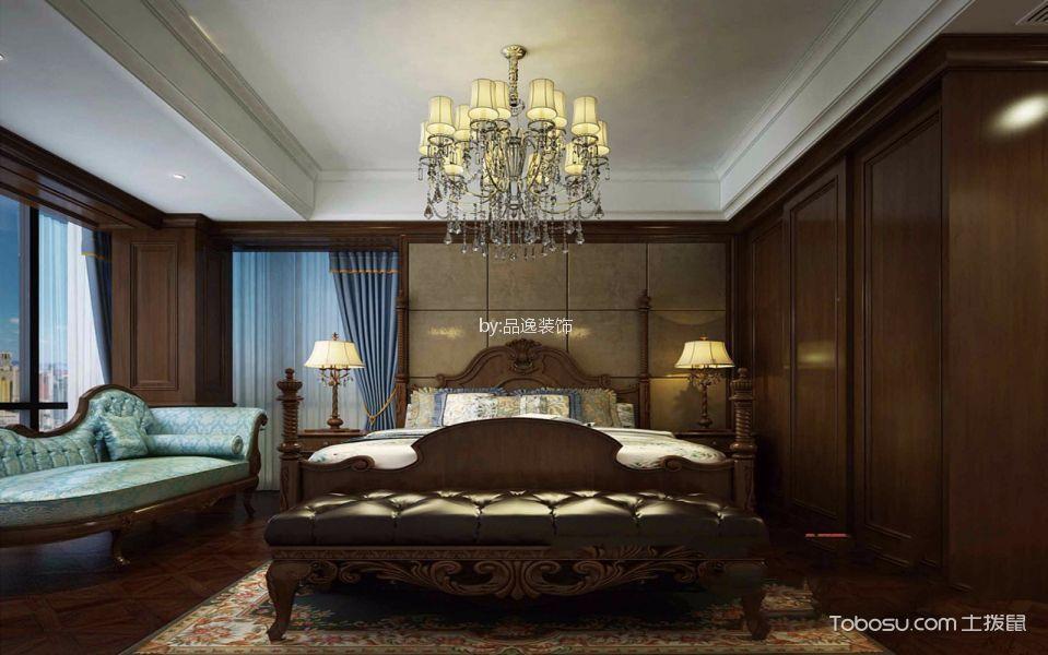 卧室咖啡色床古典风格装饰效果图