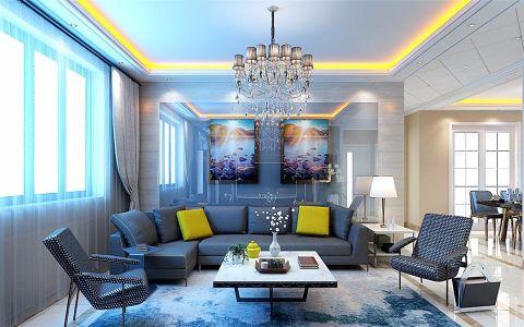 现代风格116平米楼房新房装修效果图