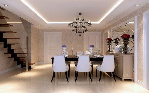 餐厅餐桌新古典风格装修效果图