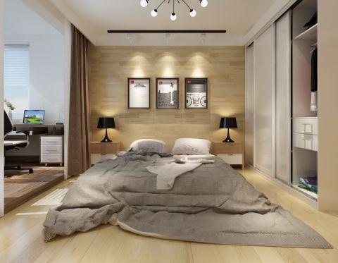 卧室照片墙后现代风格装修效果图