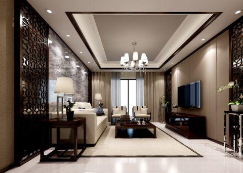 简中风格100平米公寓新房装修效果图