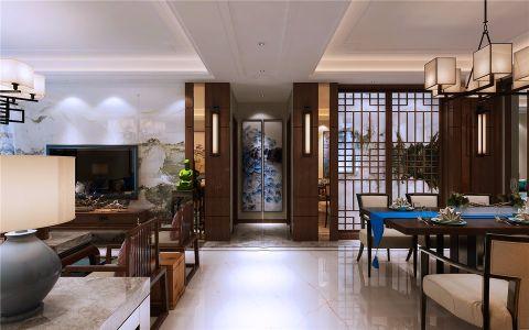 中式风格140平米公寓新房装修效果图