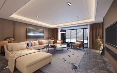 后现代风格90平米两室两厅新房装修效果图