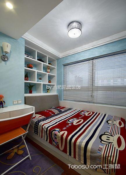 儿童房白色床现代简约风格装潢图片