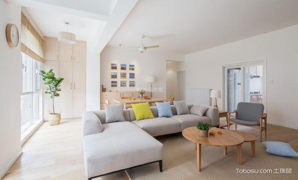 现代简约风格100平米公寓新房装修效果图
