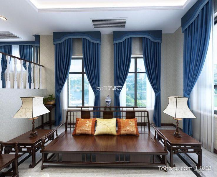宁波金色荣湾385平米新中式风格效果图