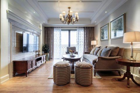 融科瑷颐湾100平美式风格三居室效果图