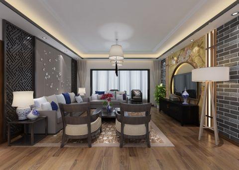 中式风格105平米公寓室内装修效果图