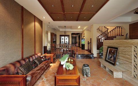 东南亚风格100平米三室两厅新房装修效果图