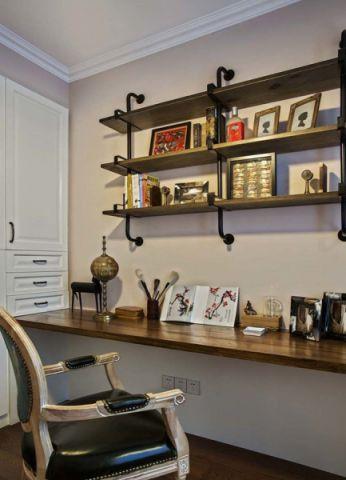 书房背景墙混搭风格装修效果图