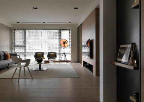 英郡110平米现代风格三居室装修效果图