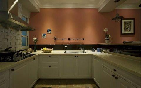 厨房背景墙美式风格装潢图片