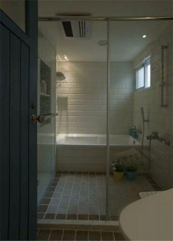 卫生间推拉门美式风格装修效果图