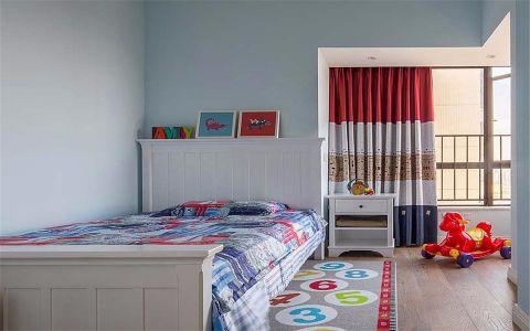 儿童房背景墙简约风格效果图