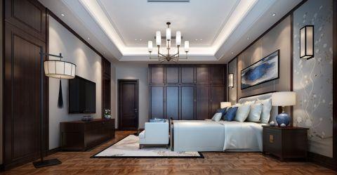 卧室吊顶新中式风格效果图
