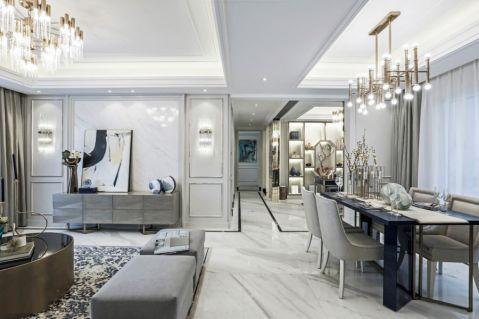 欧式风格148平米公寓新房装修效果图