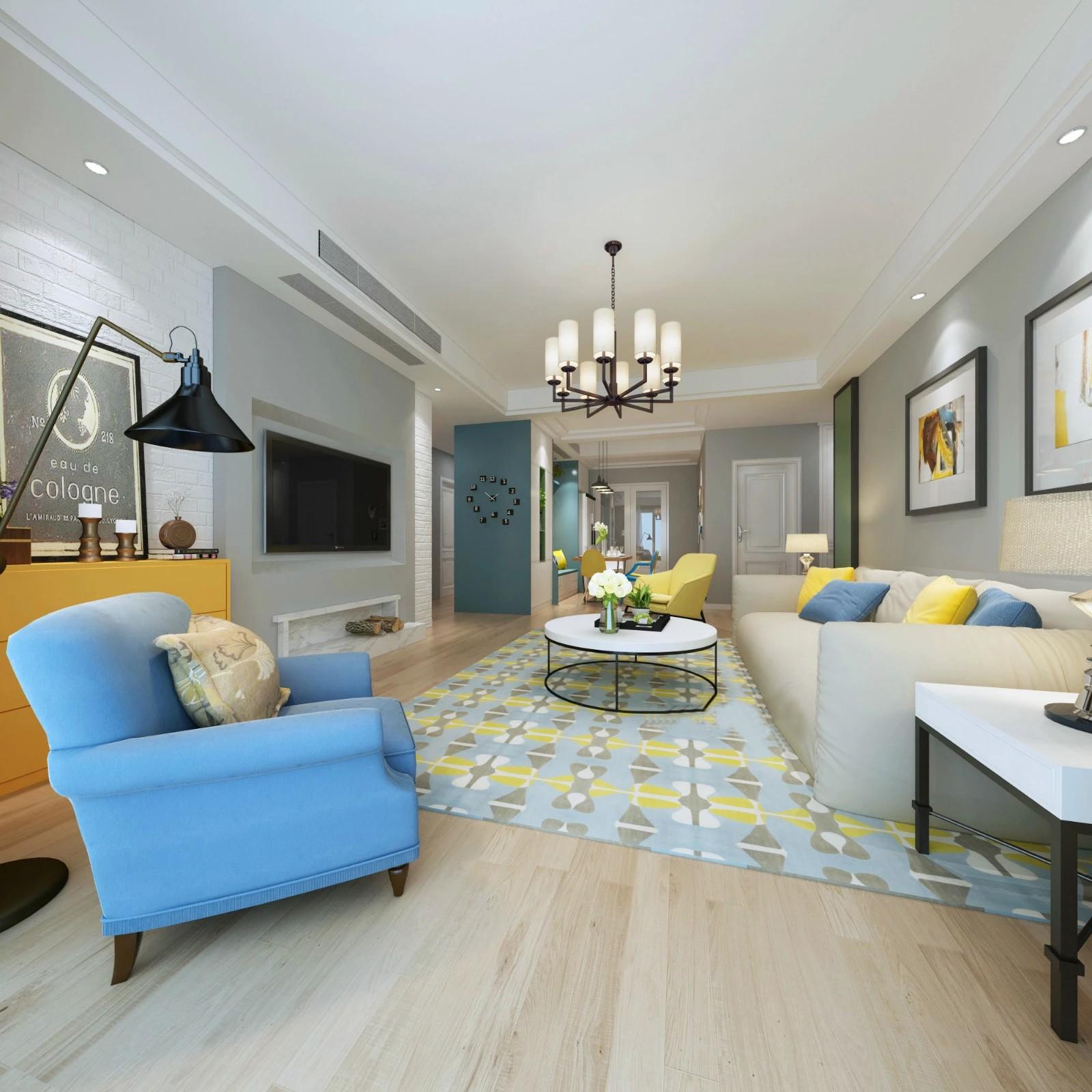 3室2卫2厅110平米北欧风格