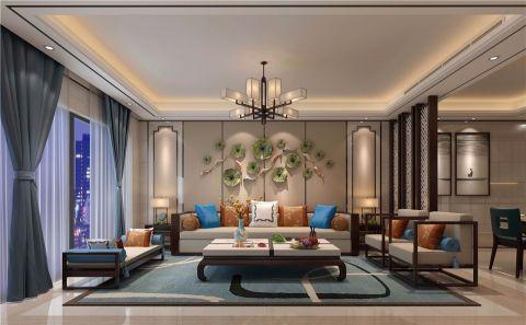 郑州一号家居网西雅图新中式风格三居室装修效果图