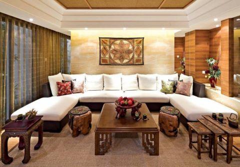 桃源居国际花园90平东南亚风格三居室装修效果图