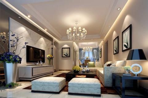 八意府现代简约四室两厅装修效果图