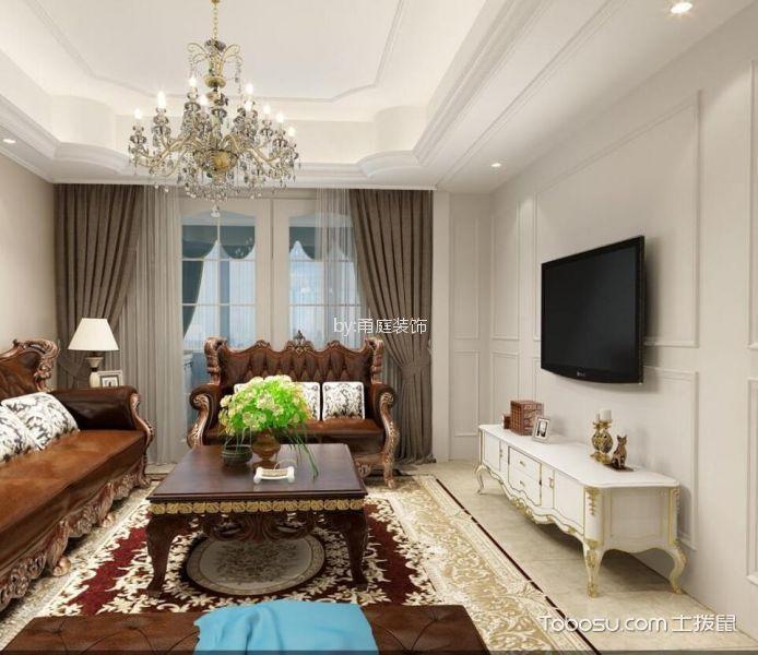 兴乐佳苑105平方现代欧式三室两厅装修效果图