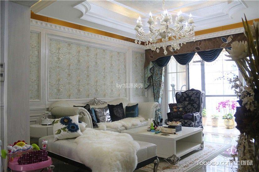 越秀星汇城新古典风格90平三居室装修效果图