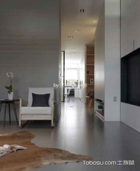 客厅灰色地砖北欧风格装潢图片