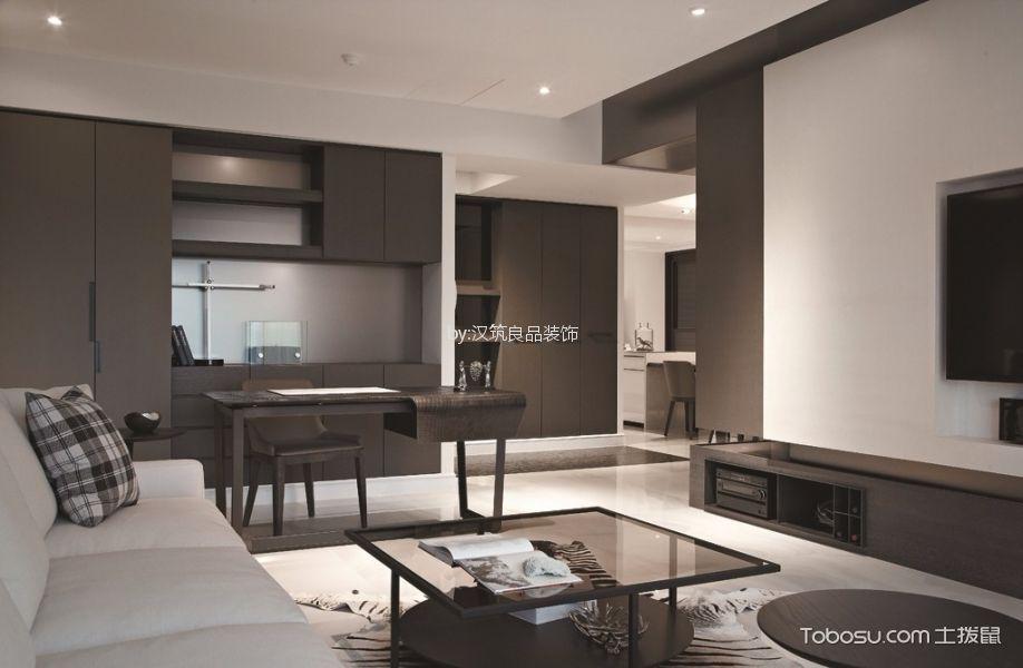 青林湾黑白色简约风格套房装修效果图