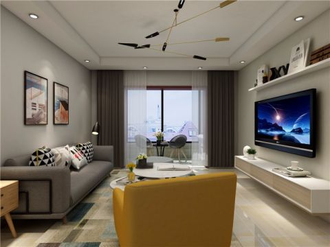 翰林国际120平三居室现代简约装修效果图