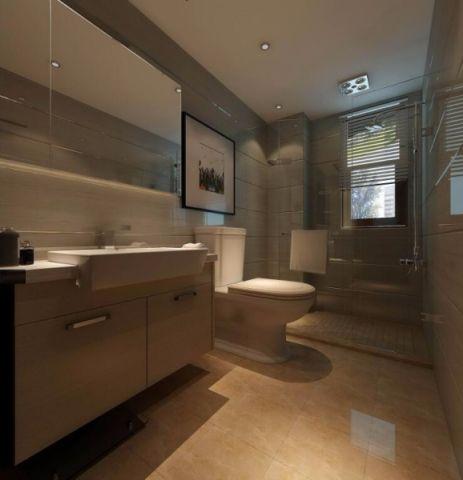 卫生间窗帘后现代浴室装饰实景图片