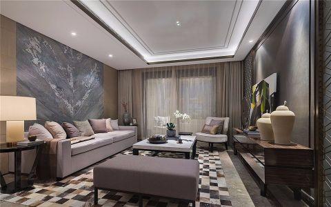 招商雍华府新中式风格120平三居室装修效果图
